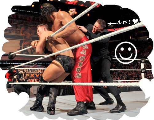Le bon (Cena) , la Brute (The rock) et le truand (the miz) !