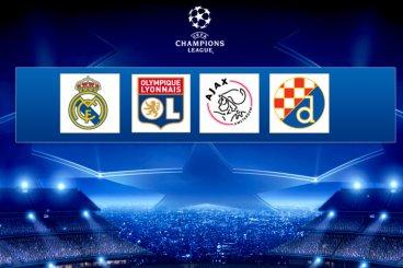 Lyon,Real Madrid,Ajax et le Dinamo Zagreb!!!!!!