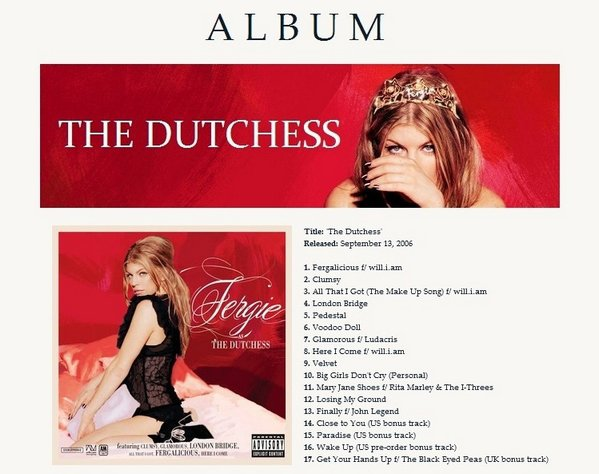 → 2006. # The Dutchess