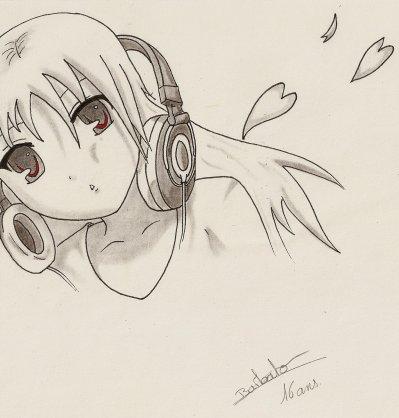 dessin manga musique