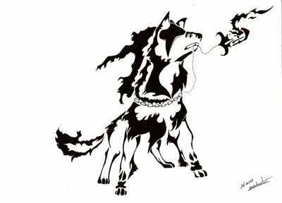 articles de dessin manga animau tagg s loup tribal. Black Bedroom Furniture Sets. Home Design Ideas