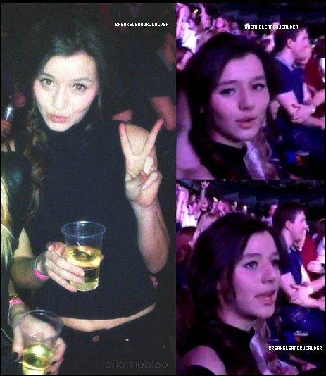 23/02/13 - A Londres, Eleanor et Danielle (une de ses amis) sont aller  au tout premier concert du Take Me Home Tour des One Direction. + Eleanor a postée une photo sur sont compte Instagram.