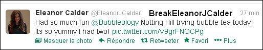 Eleanor a poster une photo d'elle, Max Hurd et d'une autre ami sur Twitter 29/02/2013.+ La grand mère d'Eleanor est décédée hier. 28/02/2013.