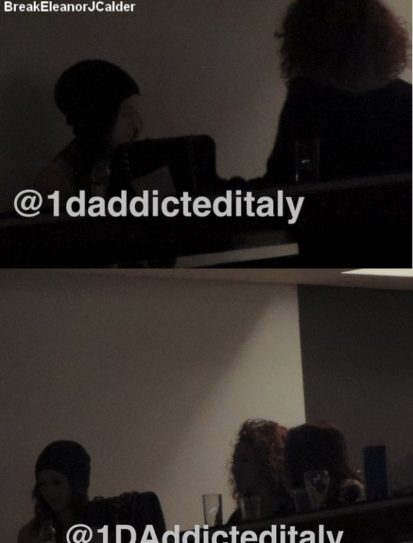 24/02/2013 A Londres- Eleanor et Danielle Peazer attendait en Backstage pour le concert des One Direction.