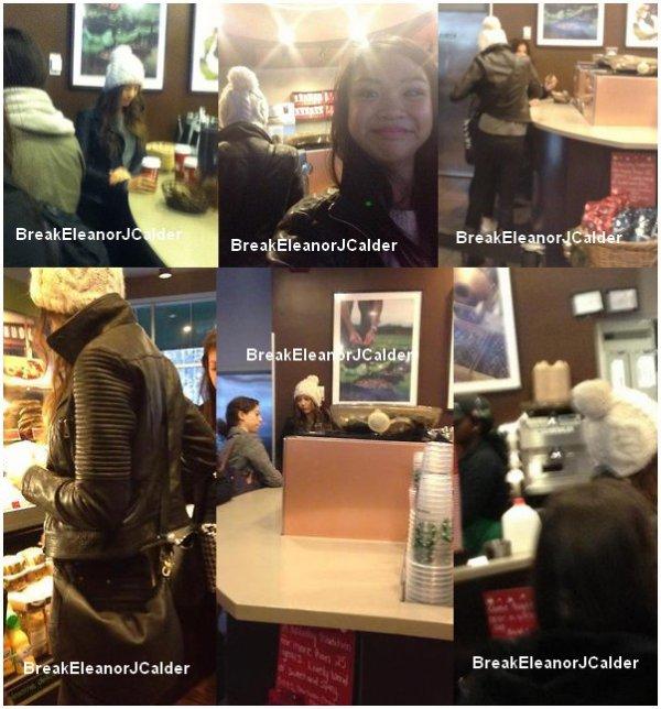 05/12/12- Eleanor est allé au StarBuck (New York), elle a pris quelque photos d'elle avec des fans et a parler un peu avec elle. + Gifs d'Eleanor dans les rue de New York.