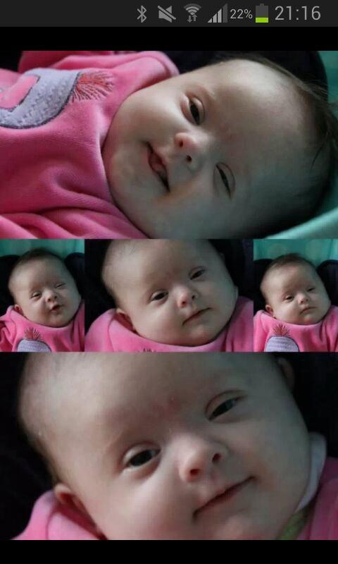 J ai deux mois et 8 jours. . Voici mes premiers sourires