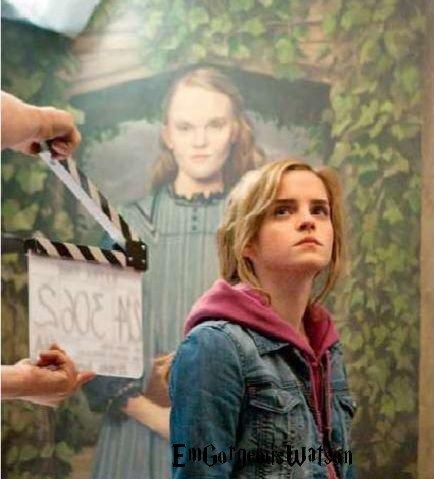 Nouvelle photo d'Emma sur le tournage de HP 7