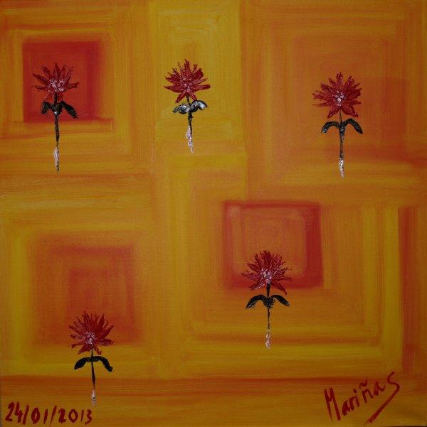 Colection, Les Fleurs qui Volent 80x80cm