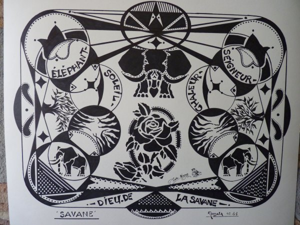 MON  DERNIER  MANDALA  ( origine  THIBETAINE ........) TERMINE  CE JOUR  .....