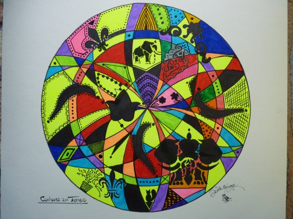 """MANDALA  COULEURS ............"""" couleurs du temps"""""""