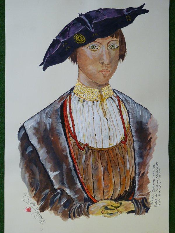 portrait ancien  , beau gentilhomme ..............