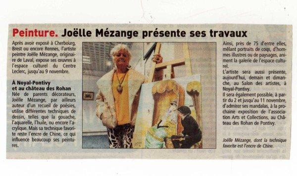 "EXPO A LA GALERIE "" IRENE FRAIN ""   CENTRE   CULTUREL  DU   LECLERC"