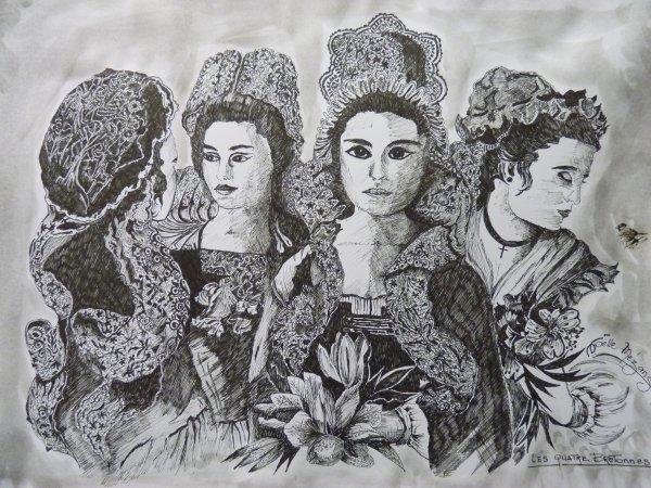 dernier dessin de la semaine  ::: ls quatre Bretonnes..................