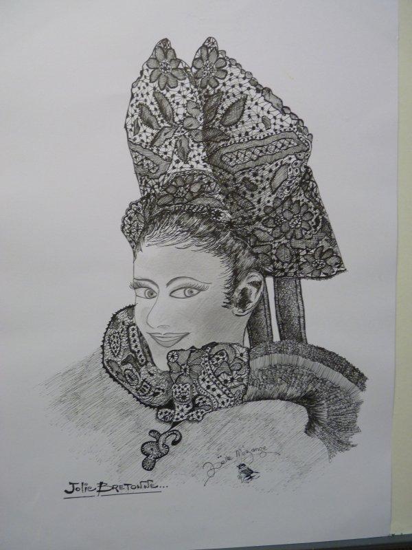 coiffe de Pont-Aven ......jolie Bretonne