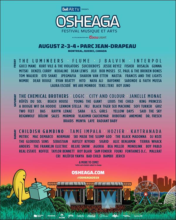 . Bea Miller sera au festival OSHEAGA qui aura lieu le 4 août 2019 à Montréal !    .