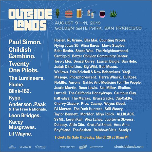 . Bea Miller sera au festival OUTSIDE LANDS du 9 au 11 août 2019 à San Francisco !    .