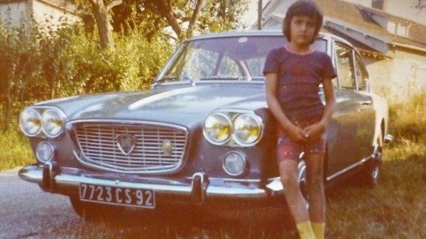 la veille du départ de l' édition 1975 devant le coupé lancia flavia du paternel