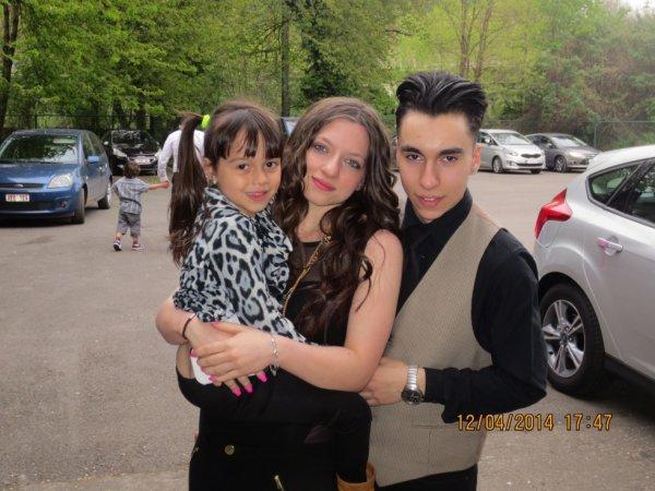 ma belle soeur , mon frère et ma fille