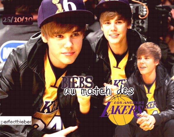 _  _     ♥ Le 26 Octobre , Jay B à un des match des Lakers ♥ _