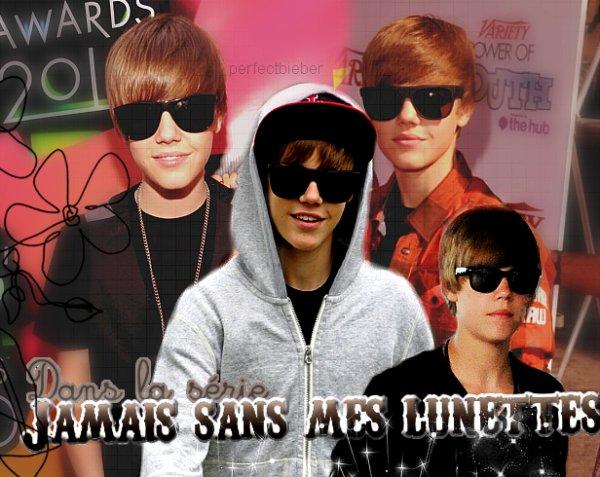 _  _     ♥ Justin Bieber dans la série  Jamais sans mes lunettes  ♥ _