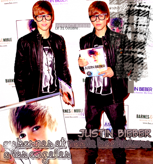 _  _     ♥ Justin& ses belles lunettes au Barnes & Noble Bookstore ♥ _