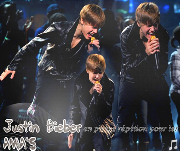 _  _     ♥ Justin répète pour les American Music Awards ♥ _
