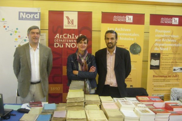 La Commission historique du Nord, en collaboration avec les Archives départementales du Nord, a participé au VI° forum d'histoire et de généalogie à Fruges (Pas-de-Calais)