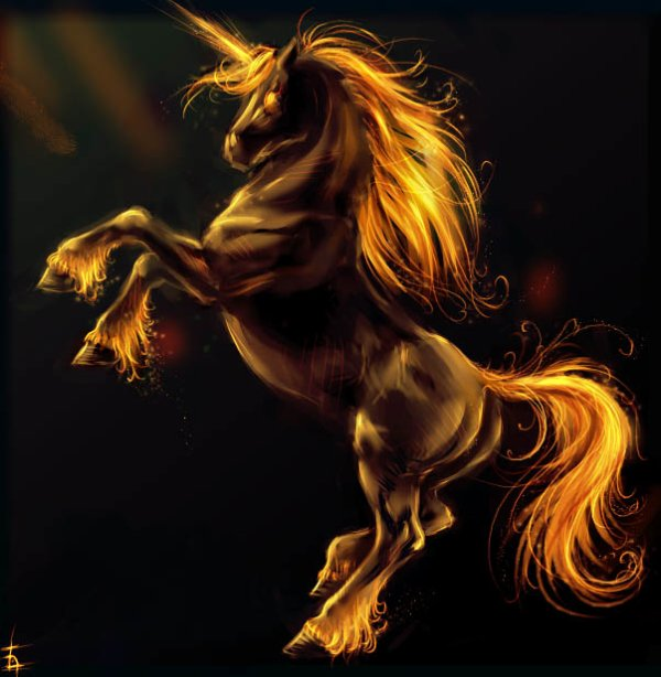 image cheval en feu