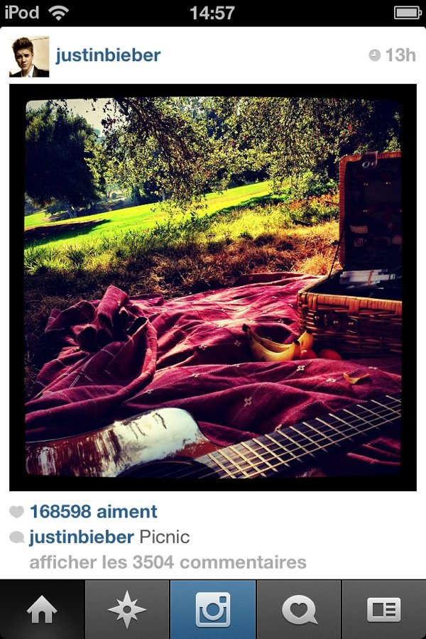 photos Instagram J.B et Selena 27/09/2012