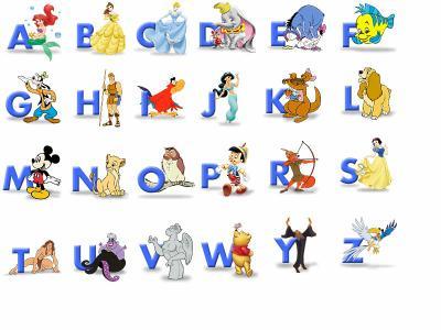 Alphabet disney le madeleinois disneyphile - Lettre disney ...