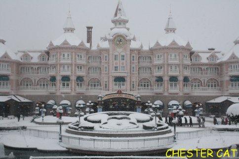Disneyland sous la neige