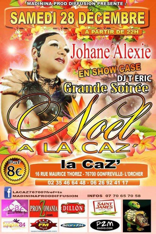 Johane ALEXIE en show case le 28 decembre 2013