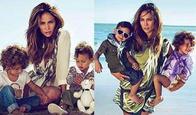 Jennifer Lopez. Avec Ses enfants.