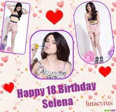 les différents anniversaire de selena gomez !!!!!! (l)(l)