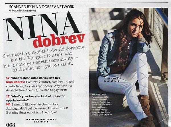 .      29/11/11 : Les scans de l'article publié sur Nina dans le Seventeen Magazine.    Je trouve Nian sont vraiment trop mignon ensemble même si je préfèrerai que Ian soit avec moi :p