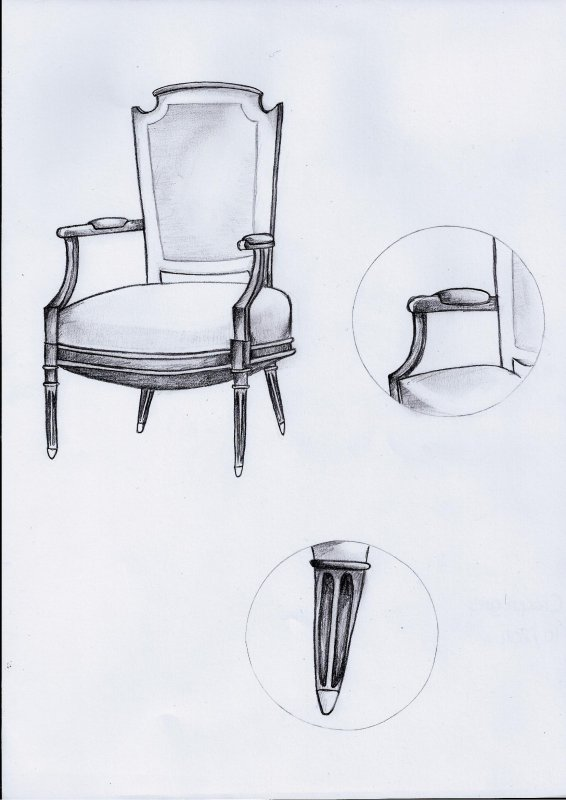 Croquis d'un siège