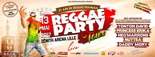 """Concert Événement """" Reggae Party Tour Live """" Zénith Arena Lille 13 Mai 2017"""