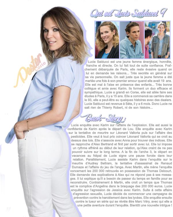 Apprenez à plus connaître le personnage de Lorie dans DNA : Lucie Salducci !