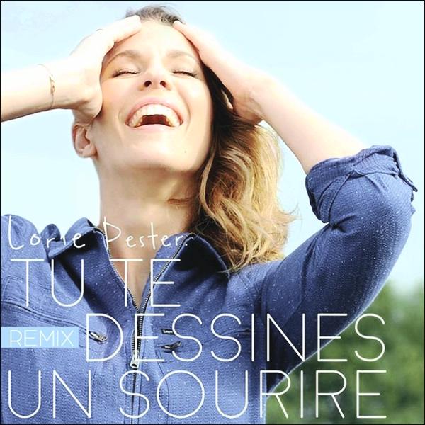 Découvrez la pochette du single « Tu te dessines un sourire » de Lorie Pester