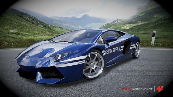 lamborghini aventador gendarmerie team black ops racers. Black Bedroom Furniture Sets. Home Design Ideas