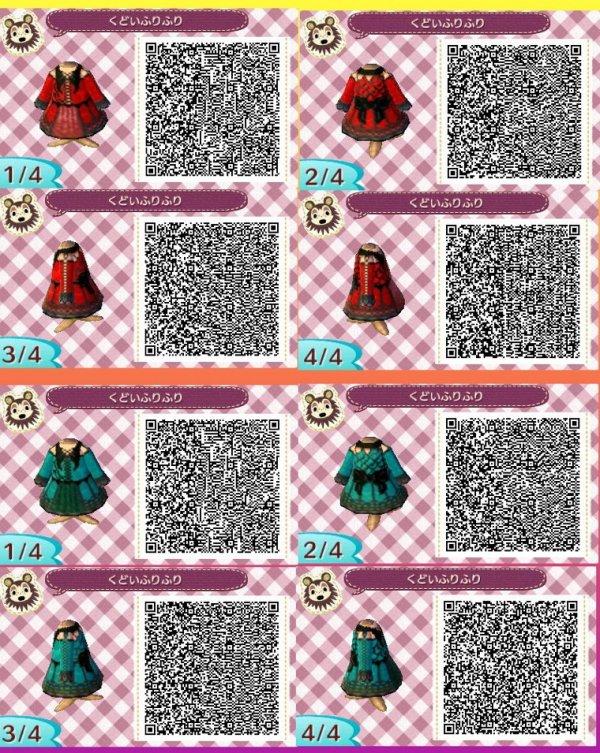 QR code robe rouge ou vert gothique