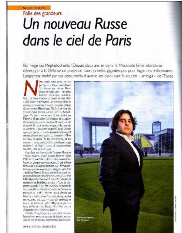 Un nouveau Russe dans le ciel de Paris