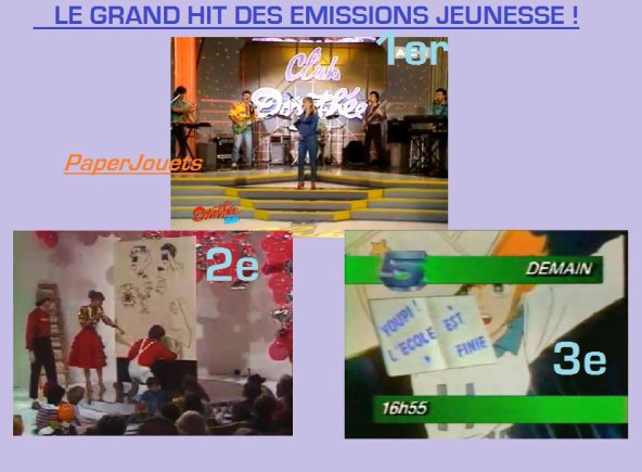 LE GRAND HIT DES EMISSIONS JEUNESSE 2010/2011...
