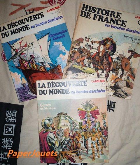 Dernières trouvailles...  ALBUMS DE BD Larousse (1976 à 1980)