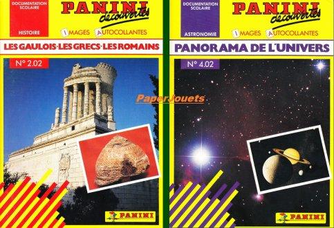 """Gamme PANINI """"Découvertes""""... (1989-1991)"""