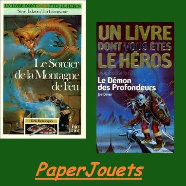 LES LIVRES DONT VOUS ÊTES LE HEROS...