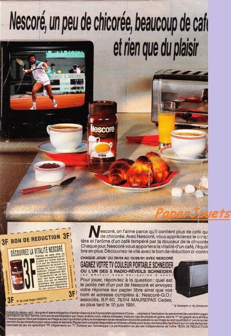 PUB 90's___NESCORE par Nestlé (1991)
