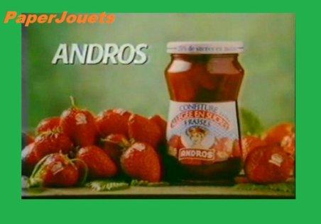 PUB 80's_____Confiture Allégée ANDROS (1989)