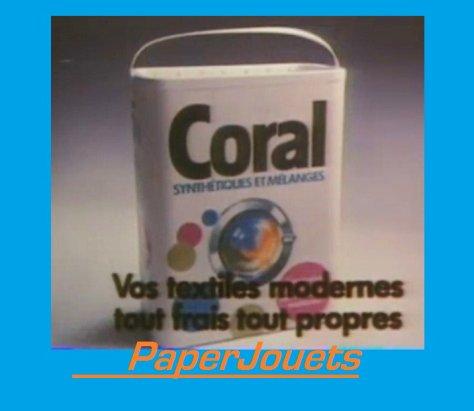 PUB 80's_____ lessive CORAL