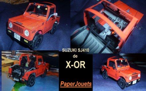 Paperjouets X-OR___La SUZUKI SJ410